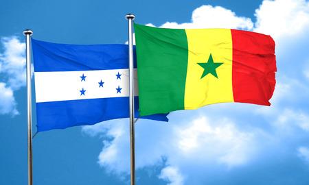 bandera honduras: bandera de Honduras con la bandera de Senegal, 3D