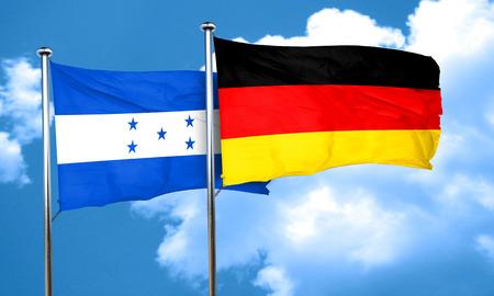 bandera honduras: bandera de Honduras con la bandera de Alemania, 3D