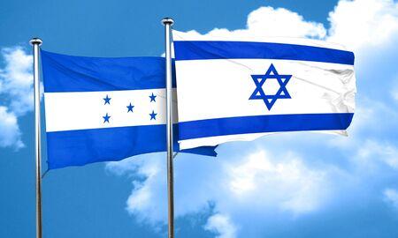 honduras: Honduras flag with Israel flag, 3D rendering Stock Photo