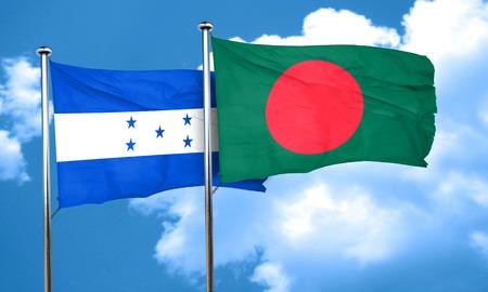 bandera honduras: bandera de Honduras con la bandera de Bangladesh, 3D Foto de archivo