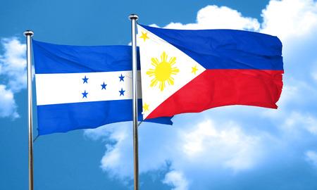 honduras: Honduras flag with Philippines flag, 3D rendering