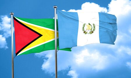 guatemala flag: bandera de Guyana de la bandera de Guatemala, 3D