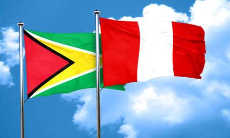 bandera peru: bandera de Guyana de la bandera de Per�, 3D