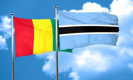 botswana: Guinea flag with Botswana flag, 3D rendering