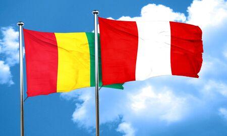 bandera de peru: bandera de Guinea con la bandera de Perú, 3D