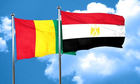 bandera egipto: Guinea flag with egypt flag, 3D rendering