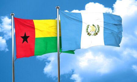bandera de guatemala: Guinea Bissau con la bandera de Guatemala, 3D Foto de archivo