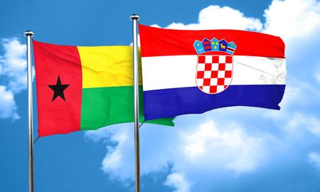 bandera croacia: Guinea Bissau con la bandera de Croacia, 3D
