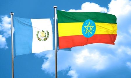bandera de guatemala: bandera de Guatemala con la bandera de Etiopía, 3D