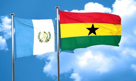 bandera de guatemala: bandera de Guatemala con la bandera de Ghana, 3D