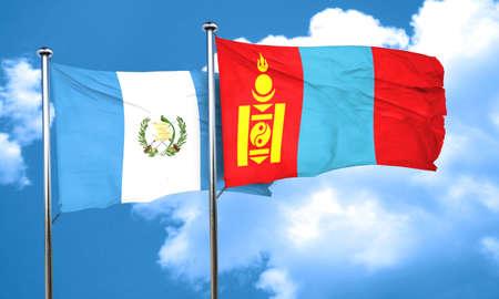 bandera de guatemala: bandera de Guatemala con la bandera de Mongolia, 3D