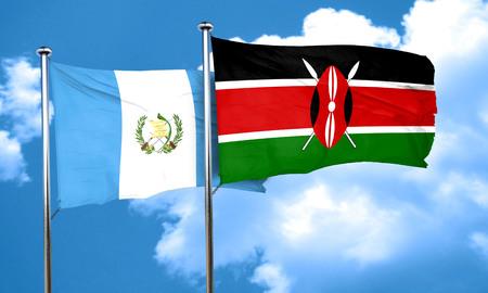 bandera de guatemala: bandera de Guatemala con la bandera de Kenia, 3D