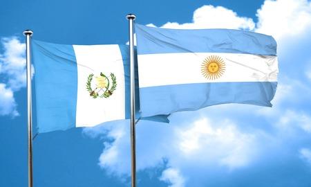 bandera de guatemala: bandera de Guatemala con la bandera argentina, 3D Foto de archivo