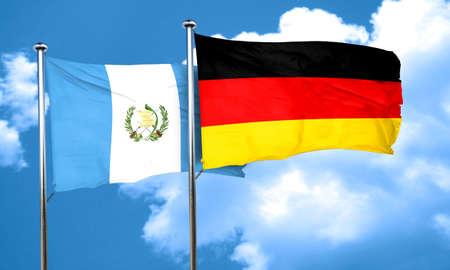 bandera de guatemala: bandera de Guatemala con la bandera de Alemania, 3D