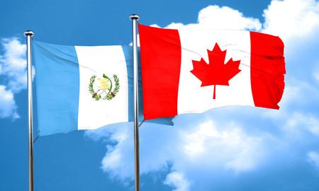 bandera de guatemala: guatemala flag with Canada flag, 3D rendering Foto de archivo