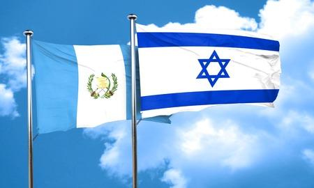 bandera de guatemala: bandera de Guatemala con la bandera de Israel, 3D Foto de archivo