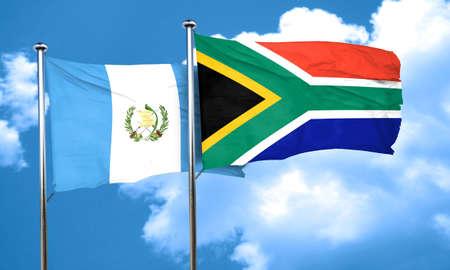 bandera de guatemala: bandera de Guatemala con la bandera de Sudáfrica, 3D Foto de archivo