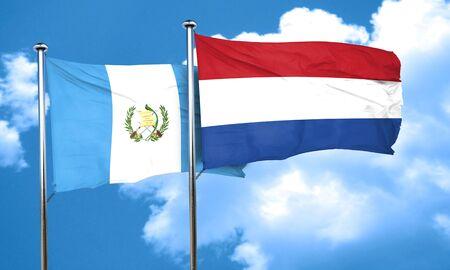 netherlands flag: guatemala flag with Netherlands flag, 3D rendering