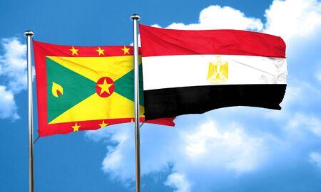 bandera egipto: bandera de Granada con la bandera de Egipto, 3D