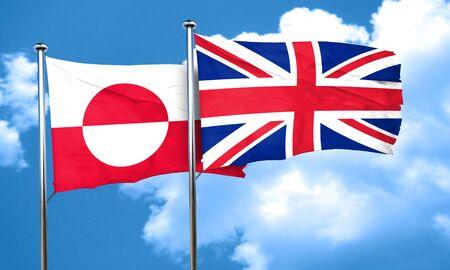 bandera de gran bretaña: Bandera de Groenlandia con la bandera de Gran Bretaña, 3D Foto de archivo