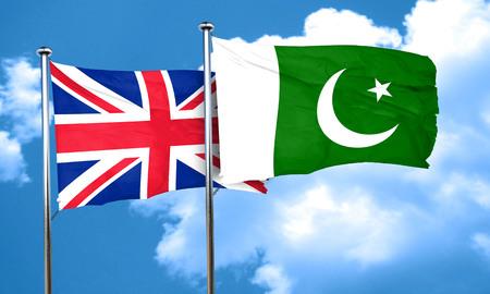 bandera de gran bretaña: Gran bandera de Gran Bretaña con la bandera de Pakistán, 3D