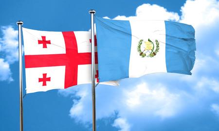 bandera de guatemala: bandera de Georgia con la bandera de Guatemala, 3D Foto de archivo