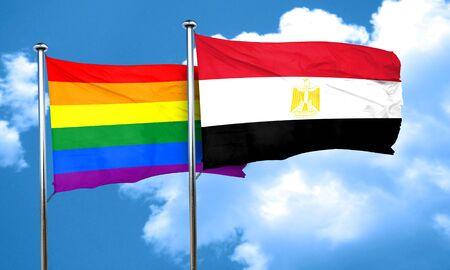 bandera de egipto: bandera del orgullo gay de la bandera de Egipto, 3D Foto de archivo
