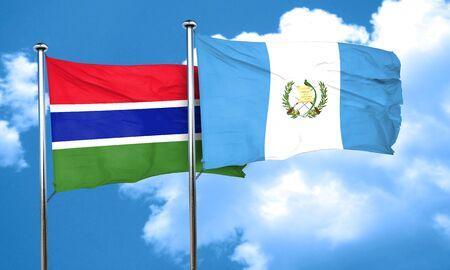 bandera de guatemala: bandera de Gambia con la bandera de Guatemala, 3D