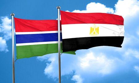 bandera egipto: bandera de Gambia con la bandera de Egipto, 3D Foto de archivo
