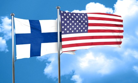 finland: finland flag, 3D rendering Stock Photo
