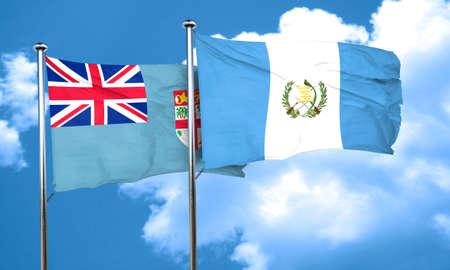 guatemala flag: bandera de Fiji con el indicador de Guatemala, 3D