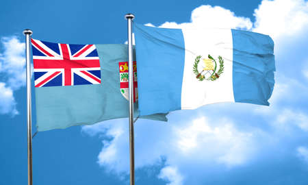 bandera de guatemala: bandera de Fiji con el indicador de Guatemala, 3D