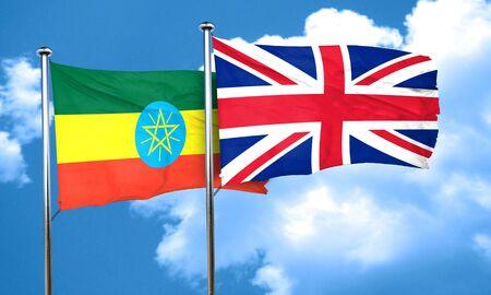 bandera de gran bretaña: bandera de Etiopía con la bandera de Gran Bretaña, 3D