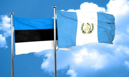 bandera de guatemala: Bandera de Estonia con el indicador de Guatemala, 3D