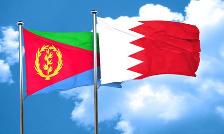 bahrain: Eritrea flag with Bahrain flag, 3D rendering