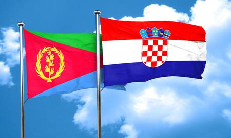 bandera croacia: bandera de Eritrea con la bandera de Croacia, 3D