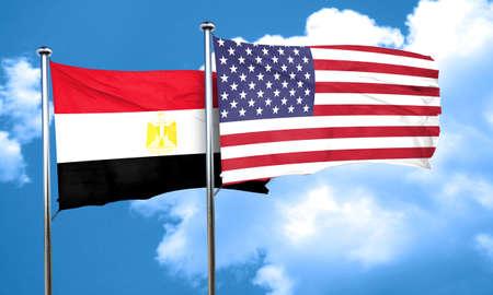 bandera de egipto: bandera de Egipto, 3D Foto de archivo