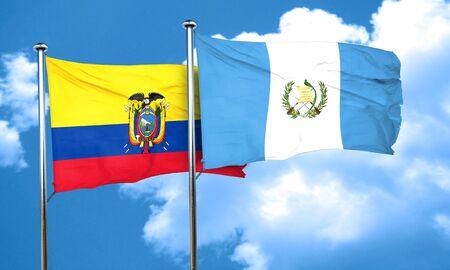 bandera de guatemala: bandera de Ecuador con la bandera de Guatemala, 3D