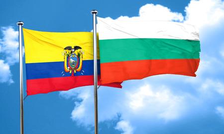 ecuador: Ecuador flag with Bulgaria flag, 3D rendering