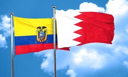 amity: Ecuador flag with Bahrain flag, 3D rendering
