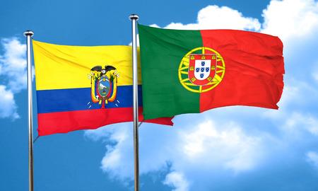 bandera de portugal: bandera de Ecuador con la bandera de Portugal, 3D