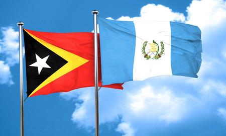 bandera de guatemala: bandera de timor oriental de la bandera de Guatemala, 3D Foto de archivo