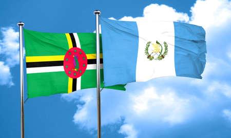 bandera de guatemala: bandera de Dominica con la bandera de Guatemala, 3D Foto de archivo