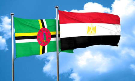 bandera egipto: bandera de Dominica con la bandera de Egipto, 3D