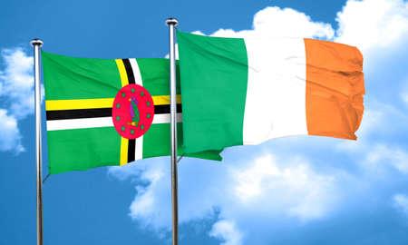 bandera de irlanda: bandera de Dominica con la bandera de Irlanda, 3D