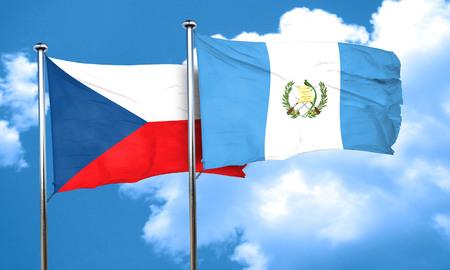 czechoslovakia: czechoslovakia flag with Guatemala flag, 3D rendering