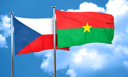 czechoslovakia: czechoslovakia flag with Burkina Faso flag, 3D rendering