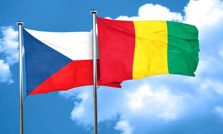 czechoslovakia: czechoslovakia flag with Guinea flag, 3D rendering Stock Photo