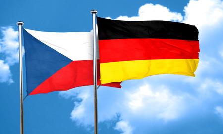 czechoslovakia: czechoslovakia flag with Germany flag, 3D rendering Stock Photo