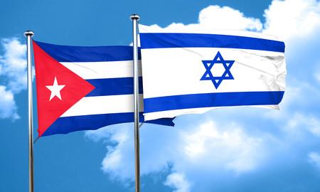 bandera cuba: bandera de Cuba con la bandera de Israel, 3D